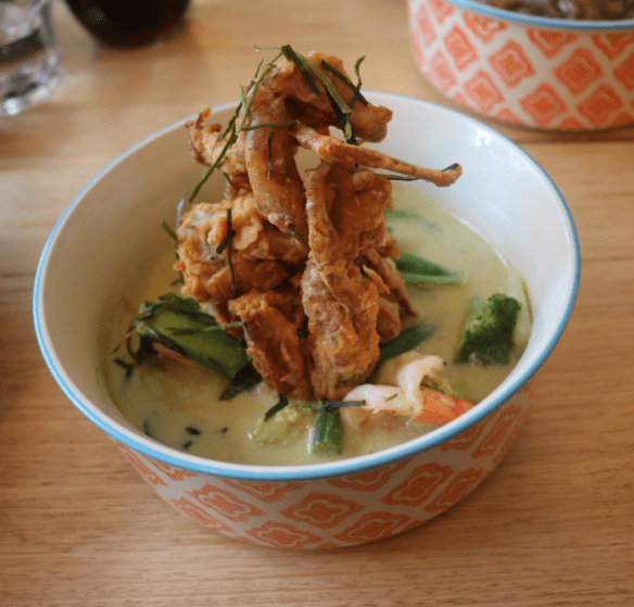 Son in law - Green curry w soft-shell crab