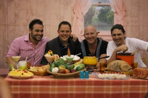 Good Food and Wine Show Melbourne 2016 - Celebrity chef akward portrait dinner shot