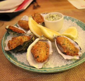 St Hotel - Crumbed oysters