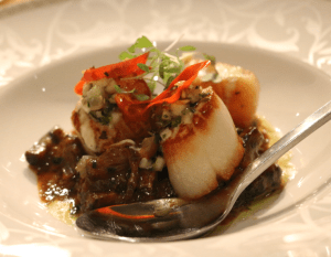Camus - scallops w braised oxtail