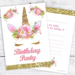Small Of Unicorn Birthday Invitations