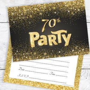 Calm G Black G Effect Birthday Party Invitations Ready To 70th Birthday Invitations Men 70th Birthday Invitations Wording Birthday Party Invitations Black