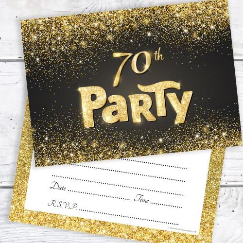 Medium Crop Of 70th Birthday Invitations