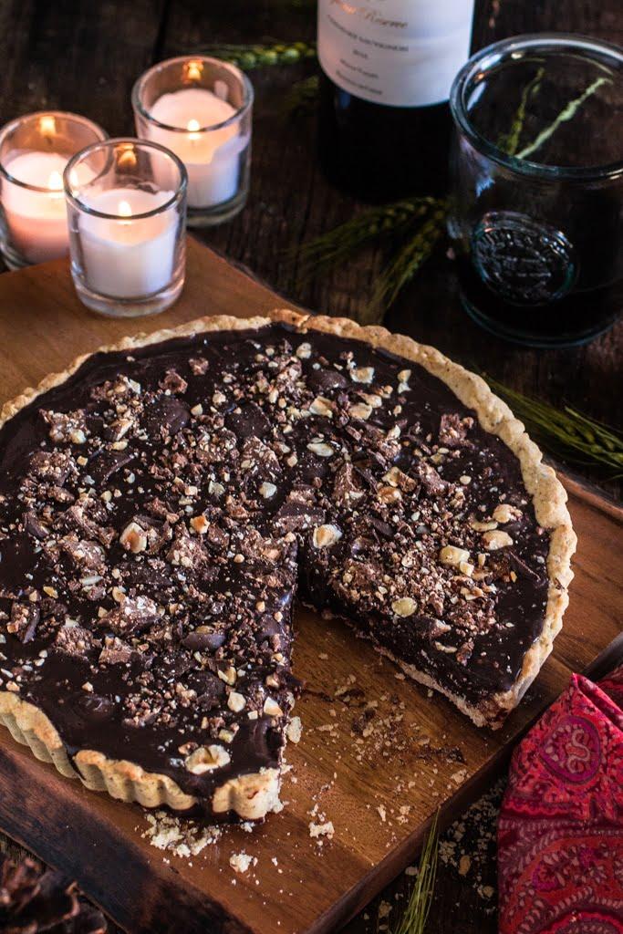 ... Table: Lasagna Bolognese and Baci Chocolate Tart with Hazelnut Crust