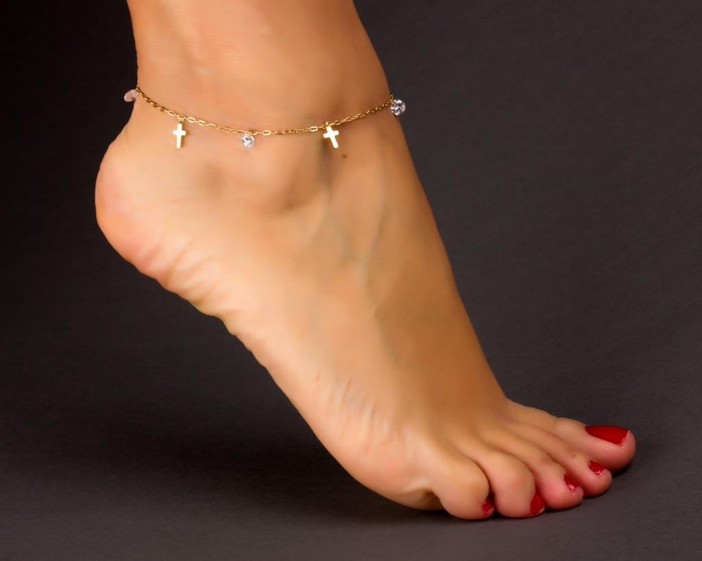 Cross Anklet Crystal Anklet Rose Gold Ankle Bracelet