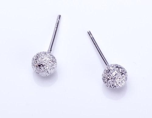 Medium Of Silver Stud Earrings