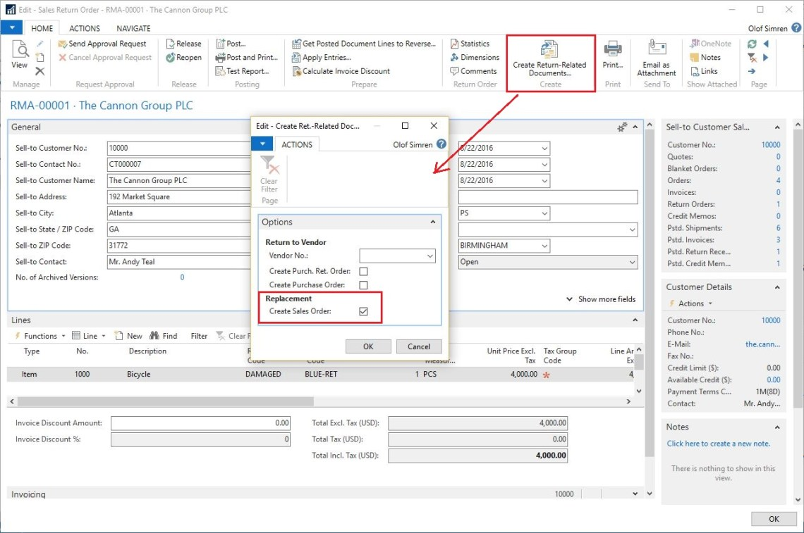 Create-Return-Related-Documents-Dynamics-NAV