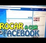 Como trocar a cor do Facebook