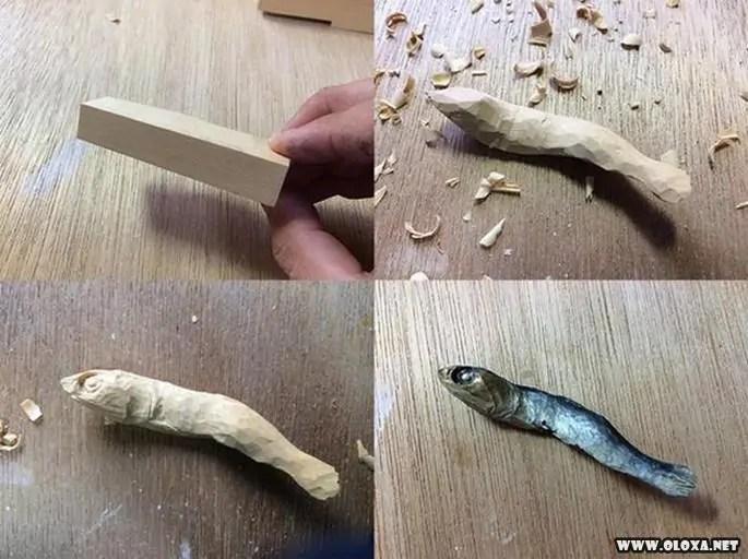 Esculturas de madeiras que parecem comida (1)