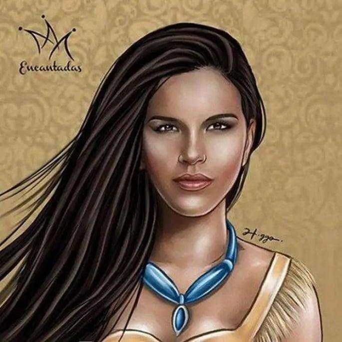 Ilustrador cria princesas da Disney com rostos de artistas brasileiras (8)
