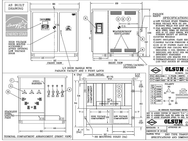 padmount transformer wiring diagram