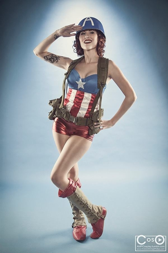 American Flag Pin Up Girl Wallpaper Cosplay This Femme Captain America Is Pin Up Perfection