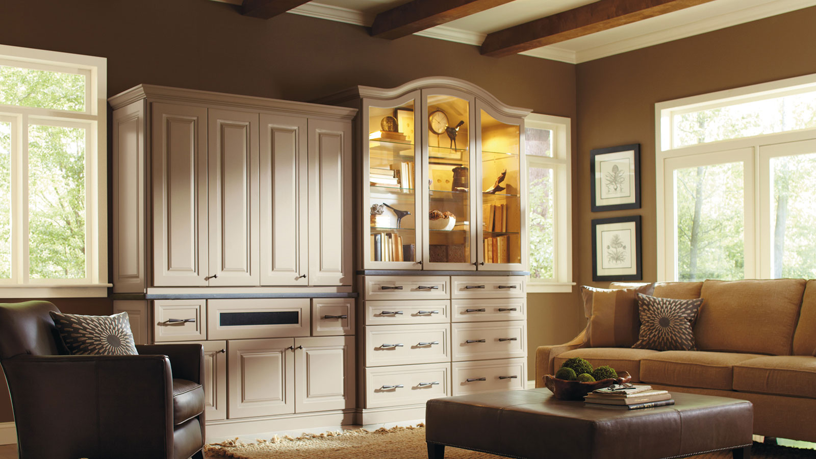 Living Room Storage Cabinets Omega Cabinetry