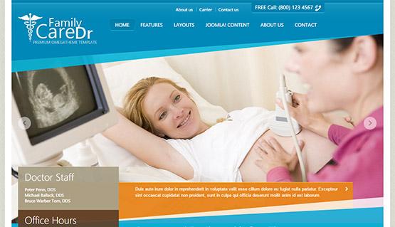 Medical  Healthcare Templates - OmegaTheme - doctor office website template