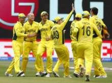 Australia celebrates world cup