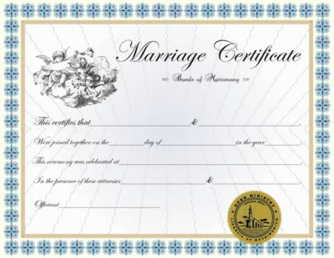 Custom Certificates  Custom Classic Marriage Certificate