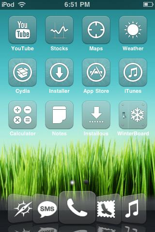 Live Wallpaper For Iphone Cydia Glasklart Hd Tema Za Retina Zaslon