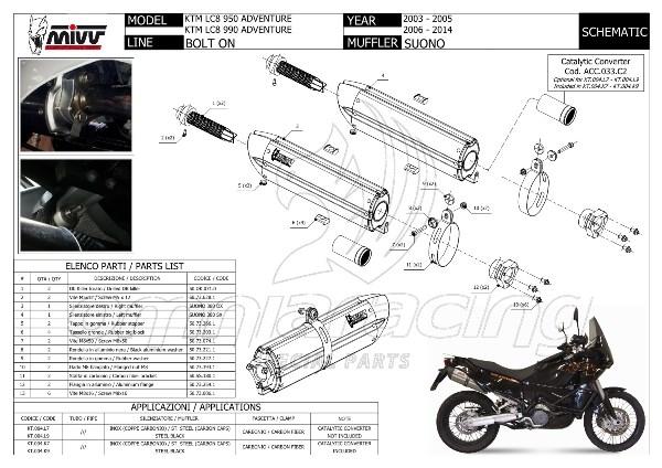 2005 Ktm 950 Adventure Motorcycle Wiring Diagram 03 05 Index