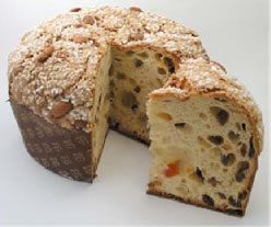 A photo of a panettone