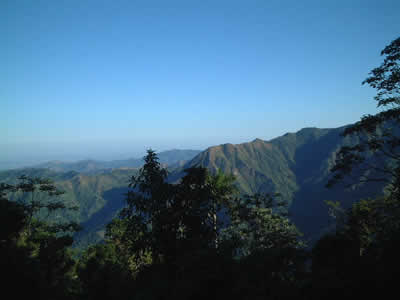 A view of the Sierra Maestra mountains