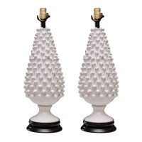 """Glazed Pottery Table Lamps - """"stone- pine"""" : On Antique ..."""