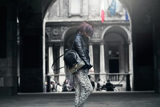 Stud Black Backpack Michael Kors Shopbop Animalier Outfit Look