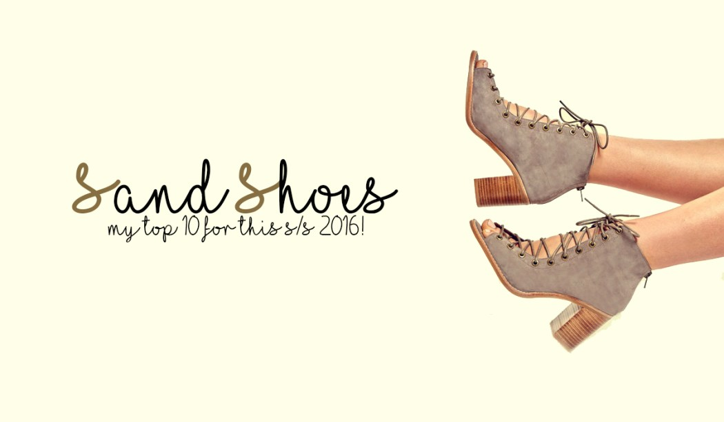 Sand shoes spring summer s/s 2016