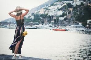 Striped palazzo pants | Una notte ad Amalfi