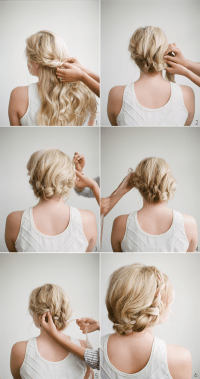 DIY Halo Braid Tutorial with Frou Frou Ribbon - Once Wed