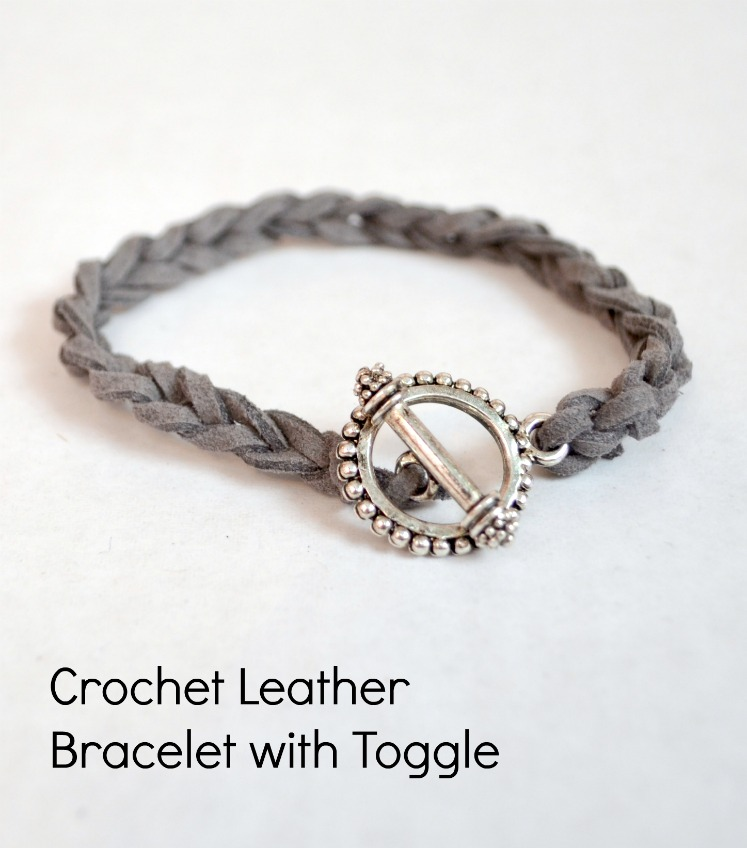 Easy Diy Stacking Bracelets Crocheted Leather Cord