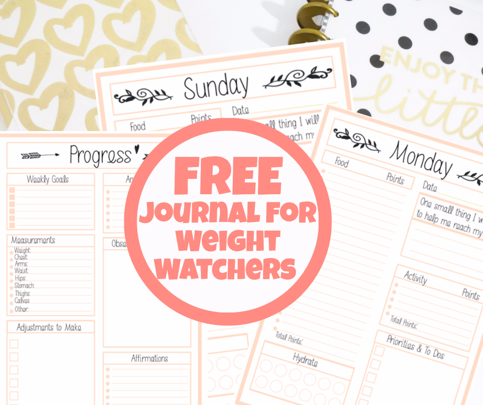 Free Weight Watchers Tracker - Printable Journal For Weight Watchers