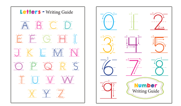 Preschool Writing Guides - Numbers In Writing