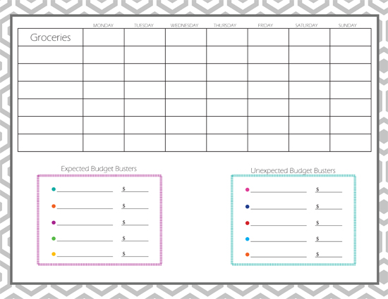 Daily Budget Tracker » One Beautiful Home - money expense tracker