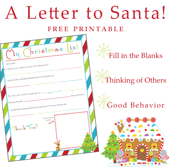 Writing a Letter to Santa ~ Free Printable! » One Beautiful Home