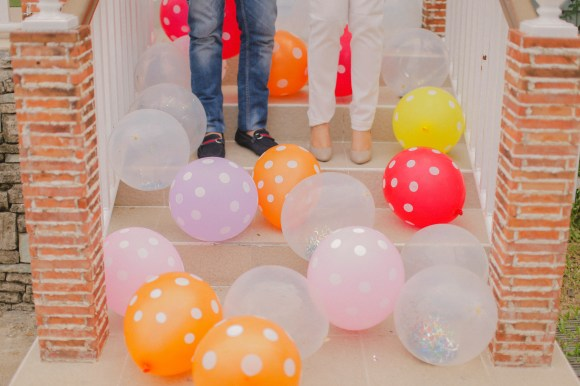 Balloons in Engagement Session