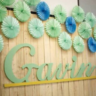 Aqua, Mint and Gold Shabby Chic Themed Christening