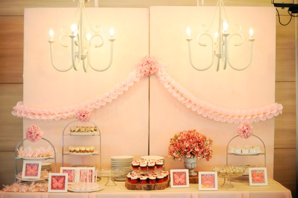 Pink Butterfly Dessert Table