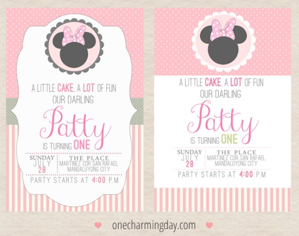 minnie mouse birthday invitation ideas