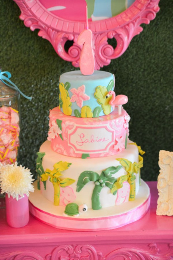 Lilly Pulitzer Birthday Cake by The Bunny Baker