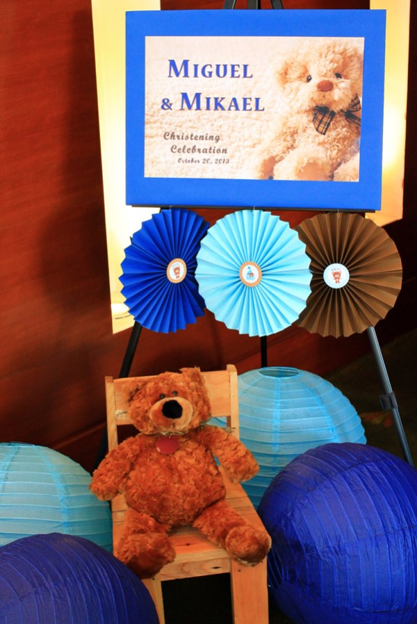 Blue and Brown Teddy Bear Themed Party - 09