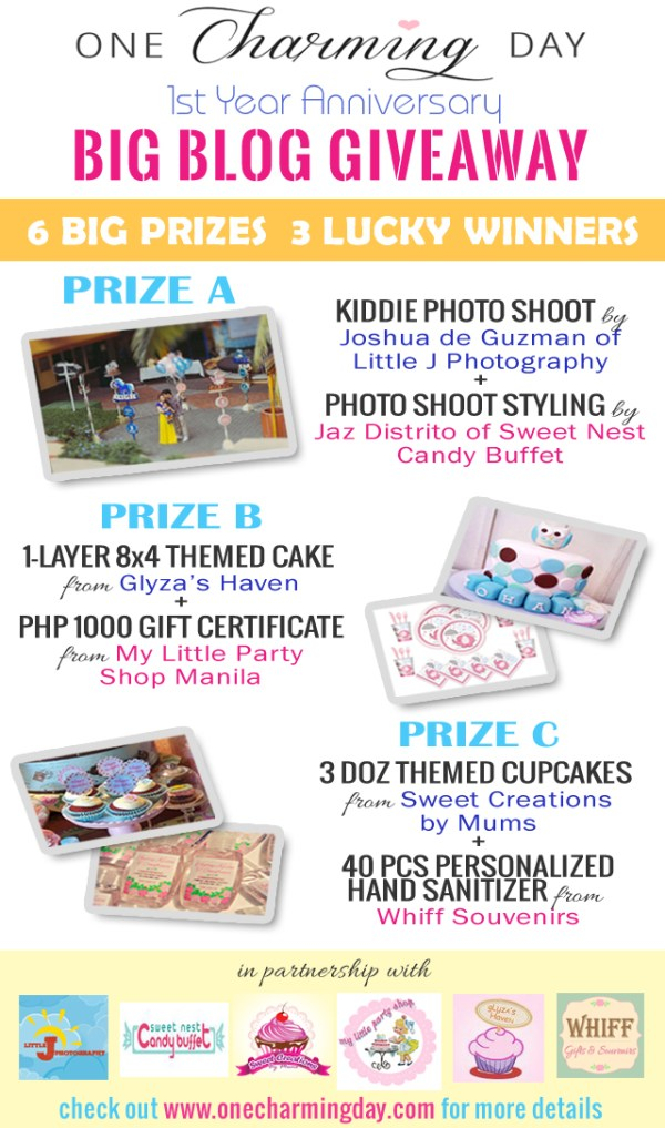 blogiversary giveaway poster