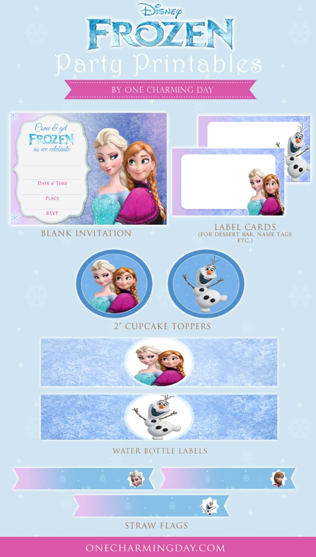 free frozen party printables