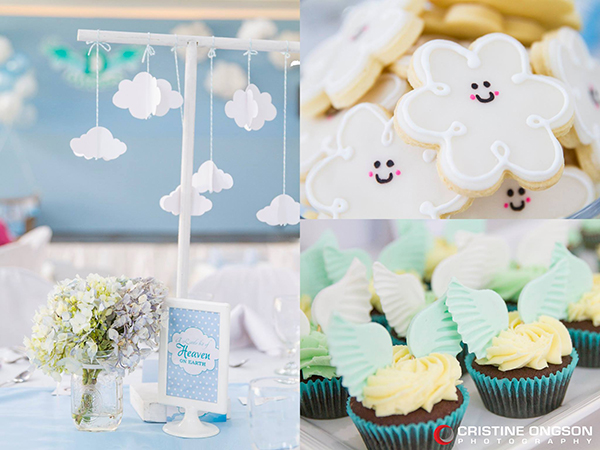 Heaven and Angel Themed Birthday Party - 19