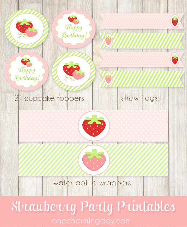 Free Strawberry Party Printable