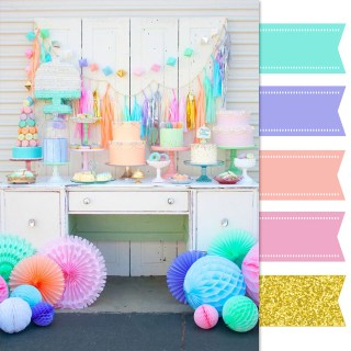 Pretty Palette: A Colorful Dessert Table