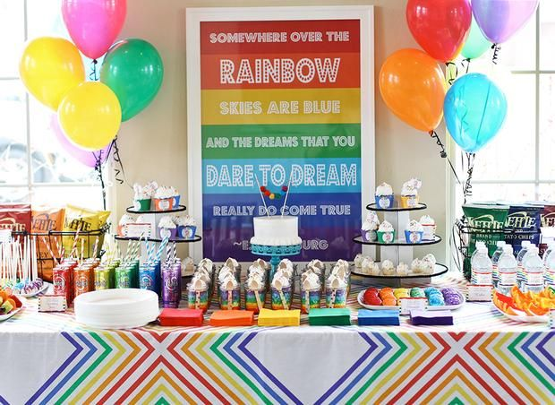 rainbow dessert table 2