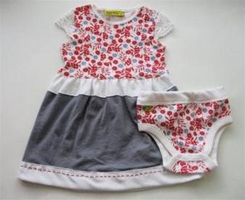 Refashioned Onesie to Toddler Dress