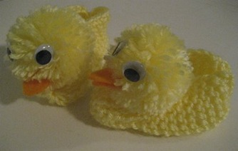 Knit Duck Slippers