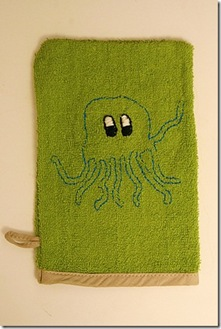 Embroidered Washcloth Mitt