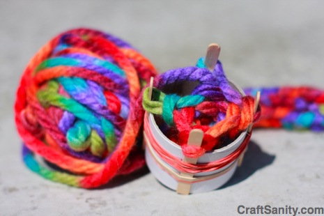 Recycled Spool Knitter